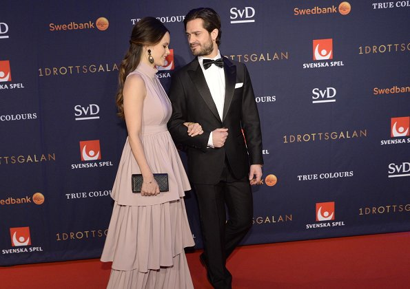 Prince Carl Philip and Princess Sofia of Sweden attended the Swedish Sports Gala 2017 held at Ericsson Arena