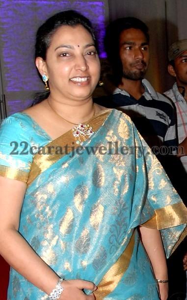 Vasundhara In Fabulous Diamond Pendant Jewellery Designs