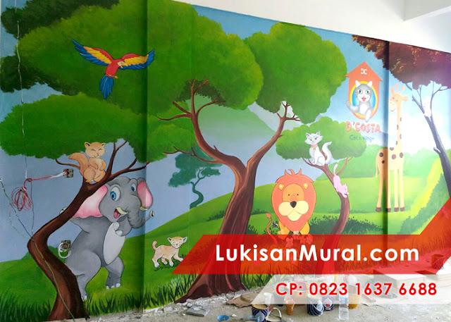 Lukisan Dinding Kamar Kartun
