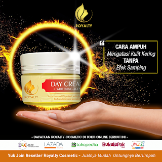 royalty cosmetic, day cream, pemutih wajah cream siang