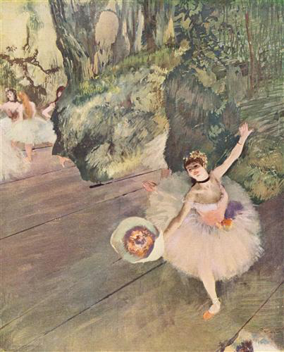 Dancer with a Boquet of Flowers by Edgar Degas