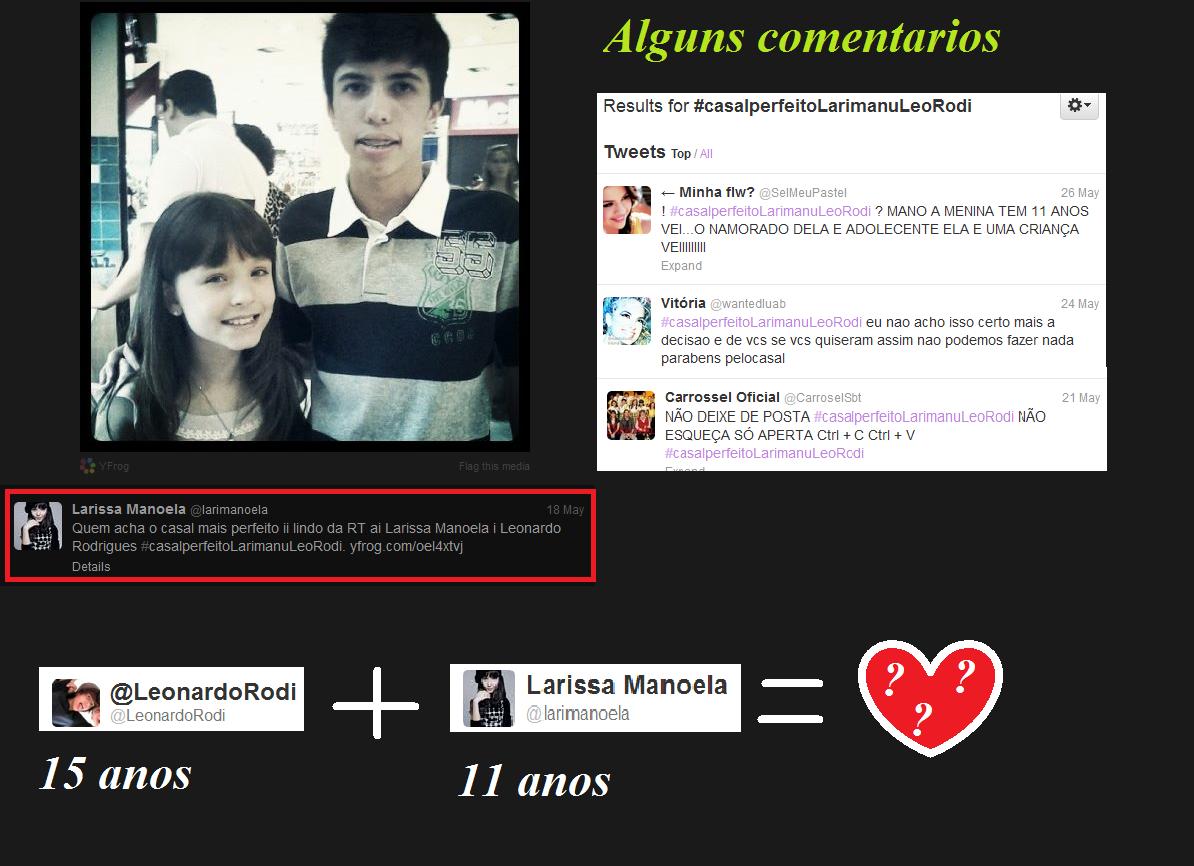 A Atriz Mirim Larissa Manoela esta namorando !! Pelo o meno é o que afirma  o Twitter Dela, bem abaixo estão algumas informações que consegui sobre a  notica ... dc580dfd07