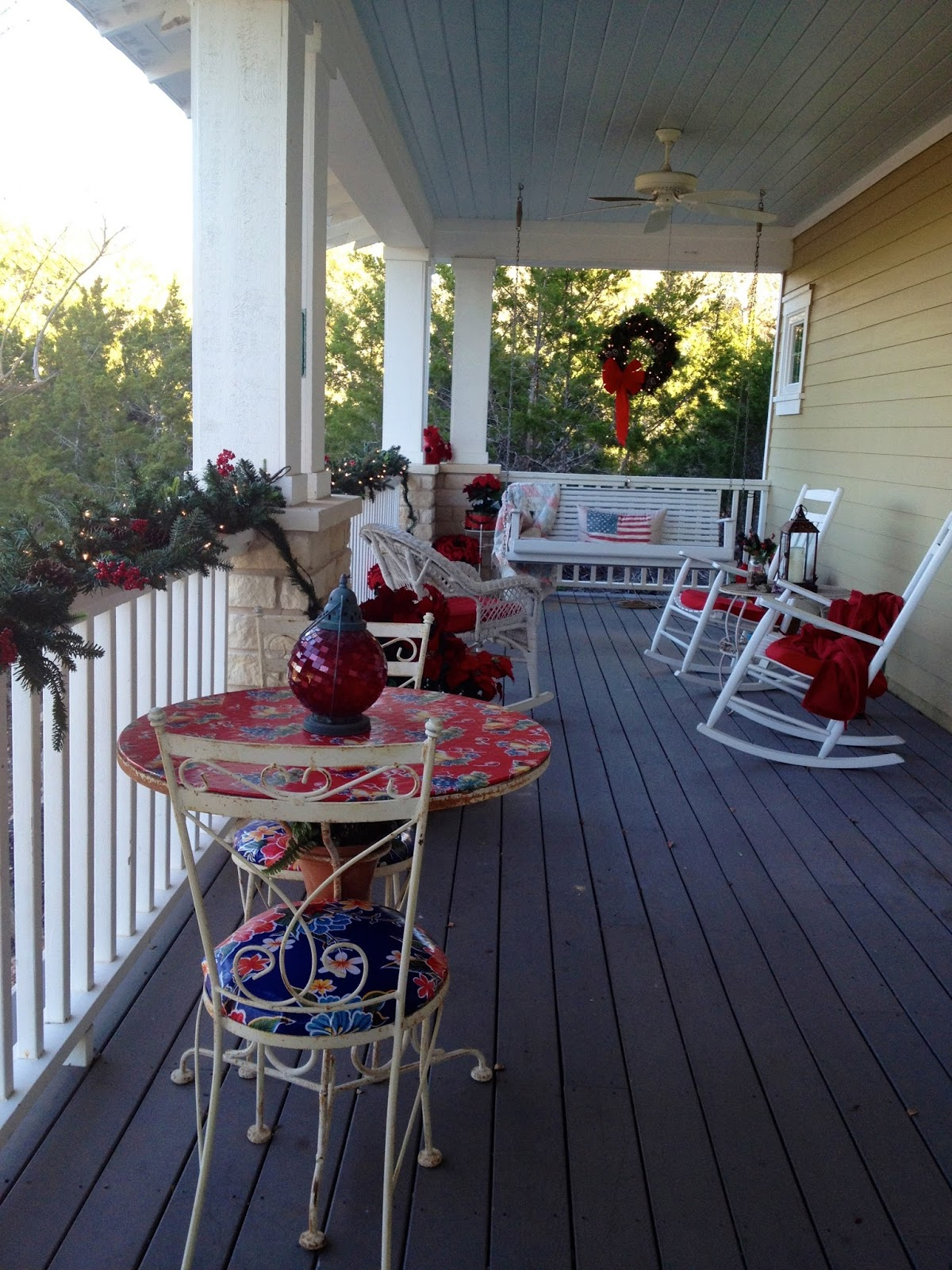Ice Cream Parlor Table And Chairs Love Seat Chair The Cul-de-sac: A Porch For All Seasons
