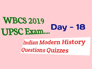 UPSC Indian Modern History Questions Quizzes