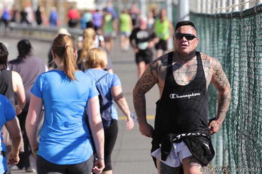 Right: Torp Henry, Taradale, Napier, on Breakwater Rd, near the Napier Port, Napier - Events included 2016 Napier City Pak'nSave Half Marathon, a Half Marathon relay and 10km and Tremains 5km run/walk. photograph
