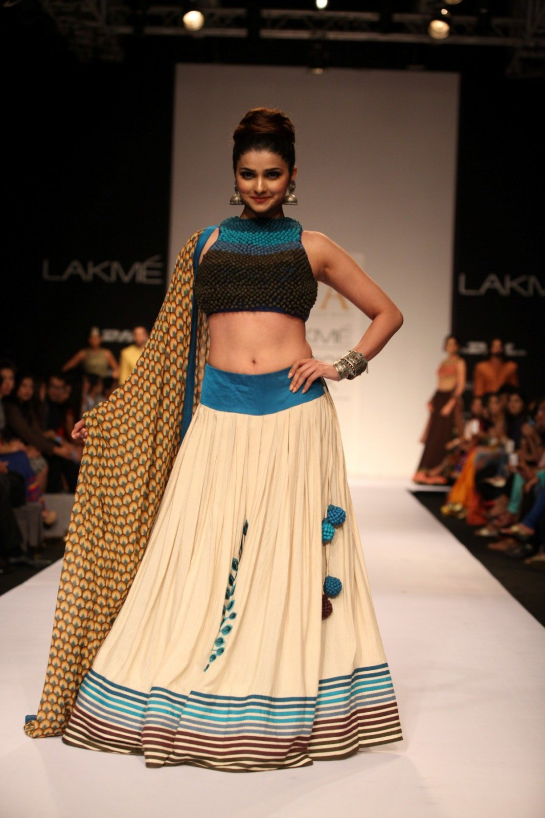Prachi Desai Navel Show Photos In Blue Top