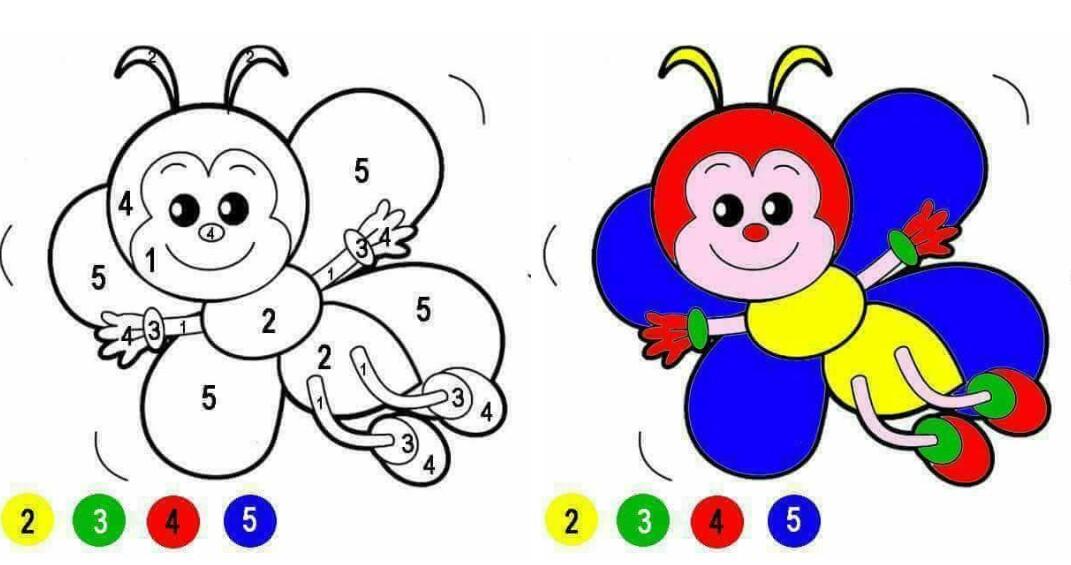 ملف تعليم الطفل التلوين بتتبع الارقام بصيغة pdf