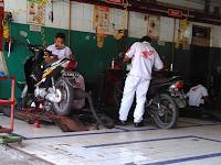 biaya servis sepeda motor di bengkel resmi Ahass Klaten