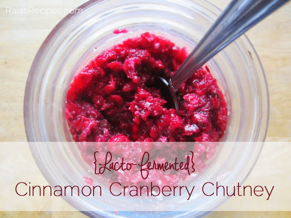 Cinnamon Cranberry Chutney by RaiasRecipes.com