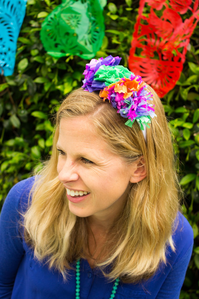DIY floral headbands for Cinco de Mayo party