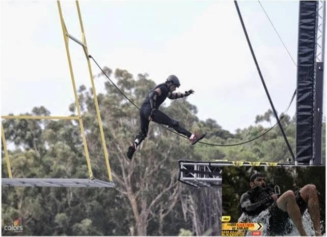 Swing stunt with jumps for Fear Factor Khatron Ke Khiladi contestants
