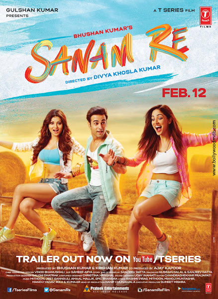 Poster Of Sanam Re 2016 480p Hindi pDVDRip Full Movie Download