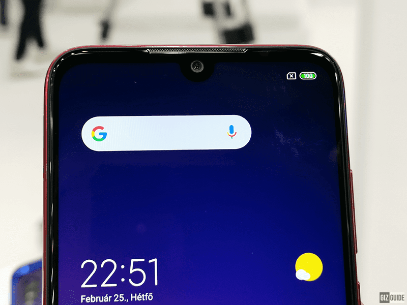 Dot drop notch