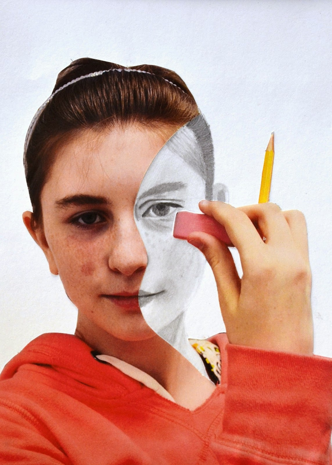 Lessons From The K 12 Art Room Erase Your Face
