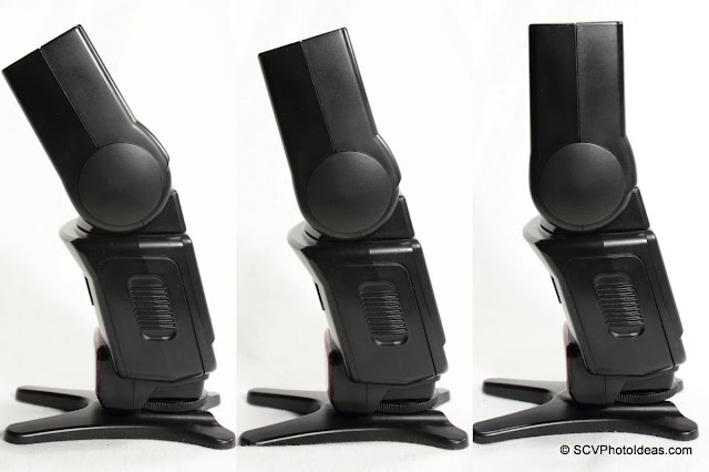 Canon Speedlite 420EX flash head tilt positions