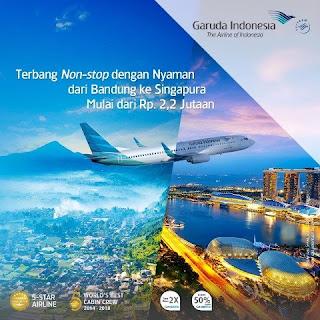 Tarik Wisatawan Ke Bandung Garuda Non Stop PP Bandung-Singapura
