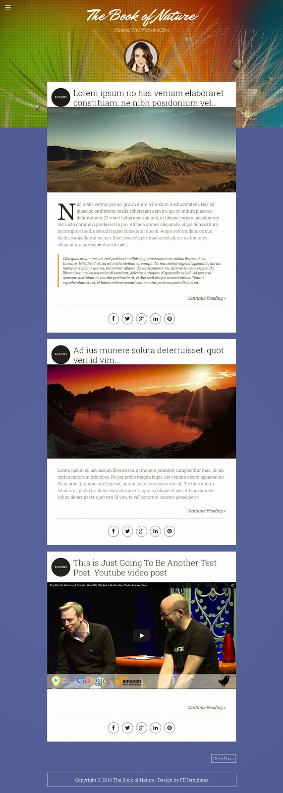 Responsive Blogger Template 2015