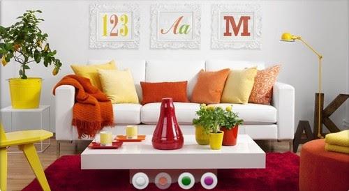livingroom-decor-color-combination-red-orange-white-yellow ...