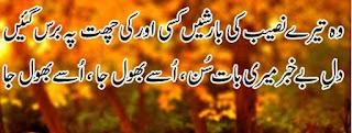 Wo Teray Naseeb ki Barishain kisi aur kay Chatt pay Baras gayin | Sad Urdu Poetry - Urdu Poetry Lovers