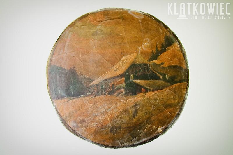Bytom: malowidło z górskim krajobrazem