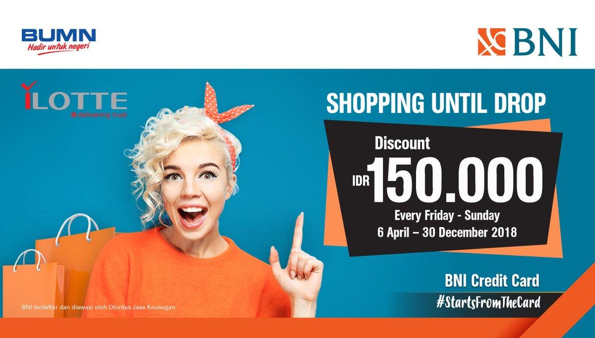 Bank BNI - Promo Diskon 150 Ribu Setiap Jumat Sabtu Minggu di ILotte