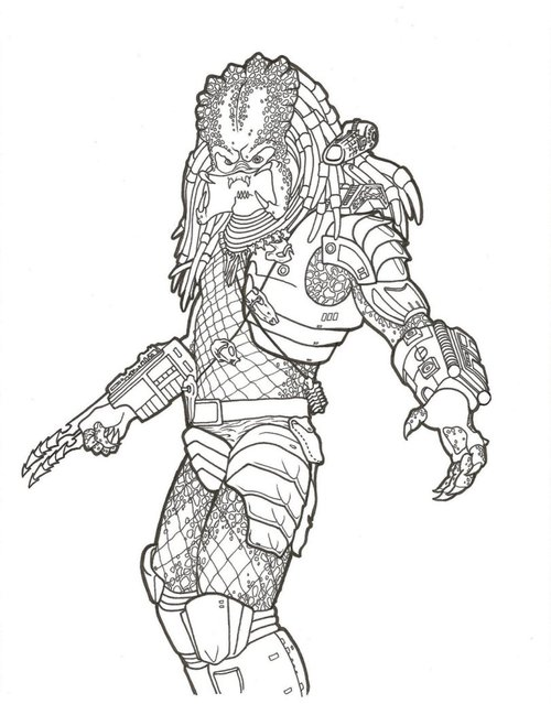 predator coloring pages # 3