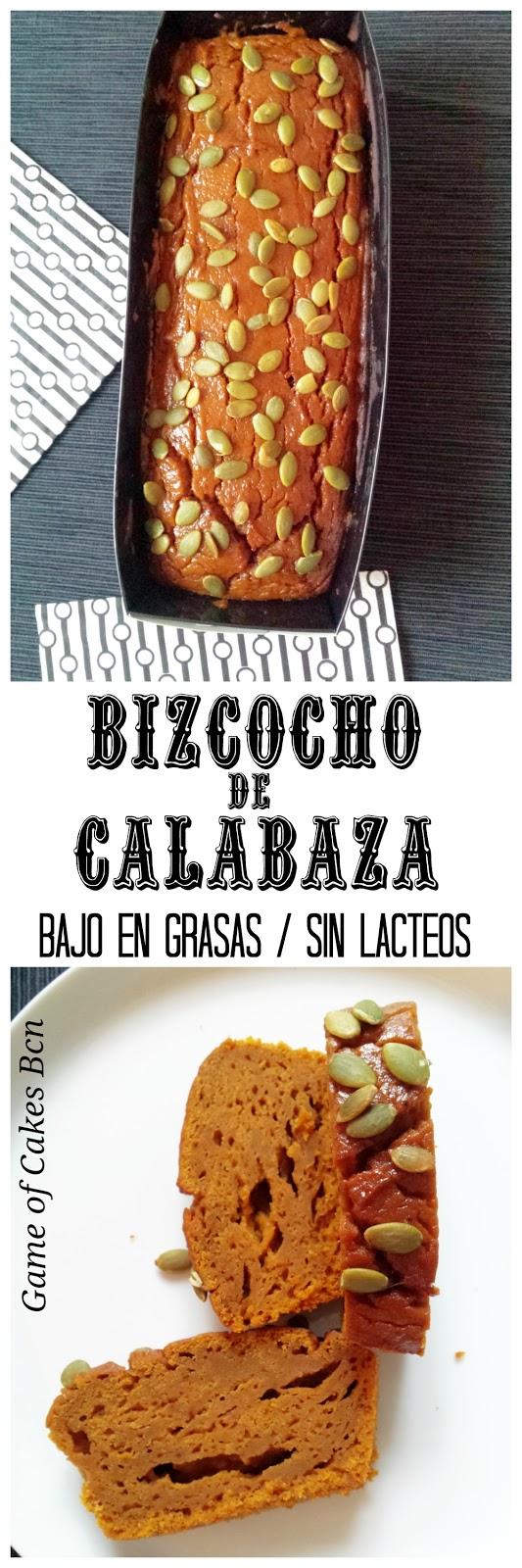 Bizcocho de Calabaza bajo en grasas sin lácteos