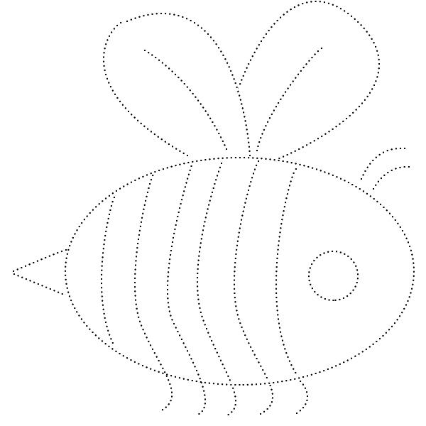 раскраска, обводилка, насекомое