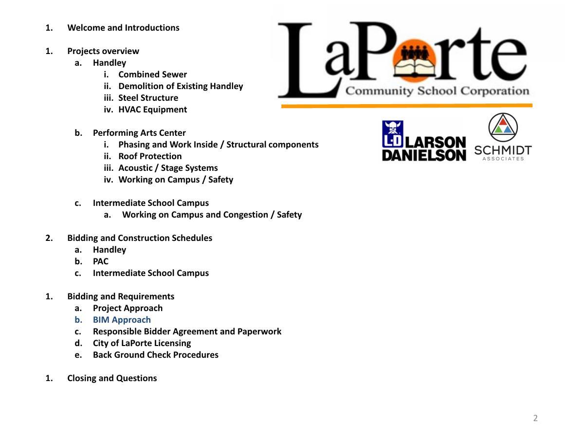 Laporte community schools projects contractor for Laporte community