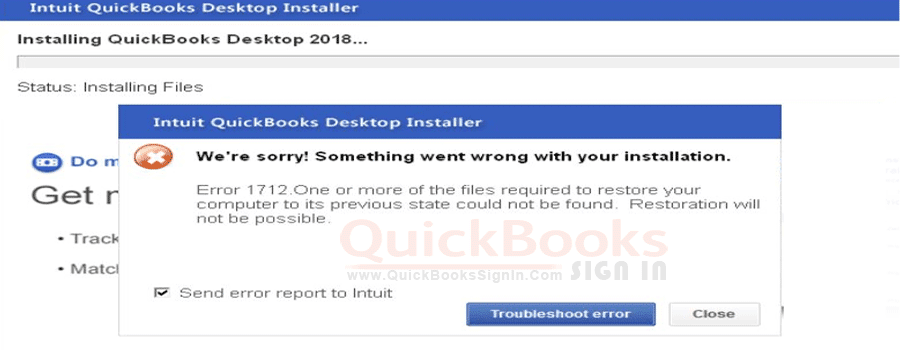 QuickBooks Error 1712 When Installing For Desktop |