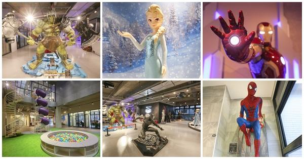 《台中.北屯》歐雅英雄主題館-將近20座1:1夢幻英雄雕像、螺旋溜滑梯、彩色球池,免費參觀