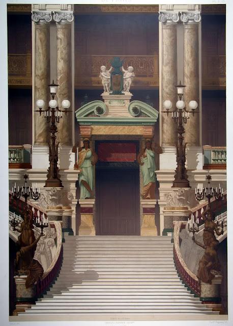 Detalle Portada a Platea Ópera Garnier