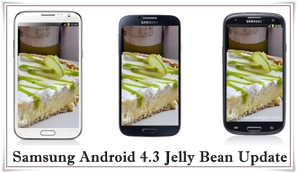 galaxy phones updated to android 4.3
