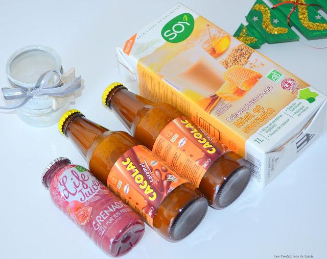 Cacolac - caramel - jus de grenade - lait de soja