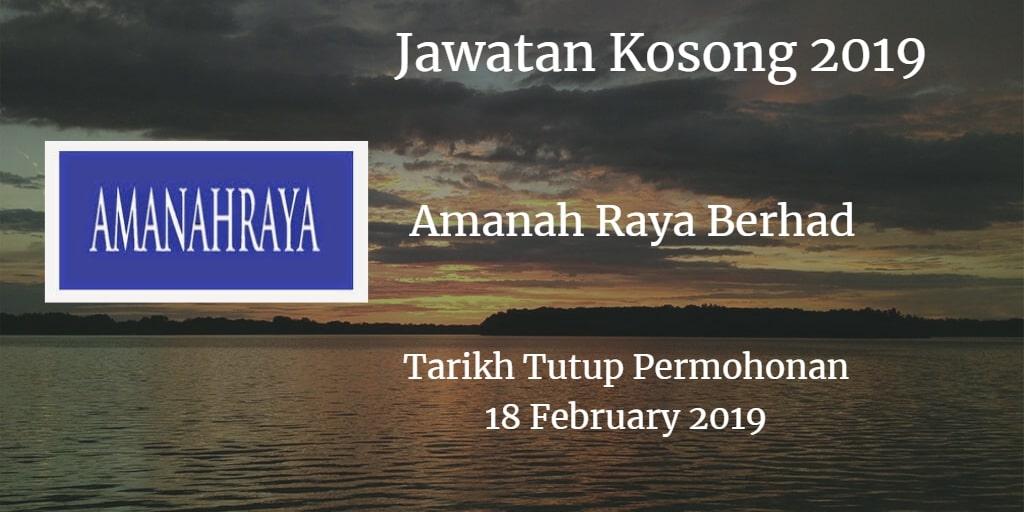 Jawatan Kosong Amanah Raya Berhad 18 February 2019