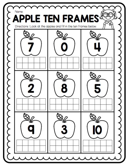 Free Printable Ten Frame Worksheets For Kindergarten