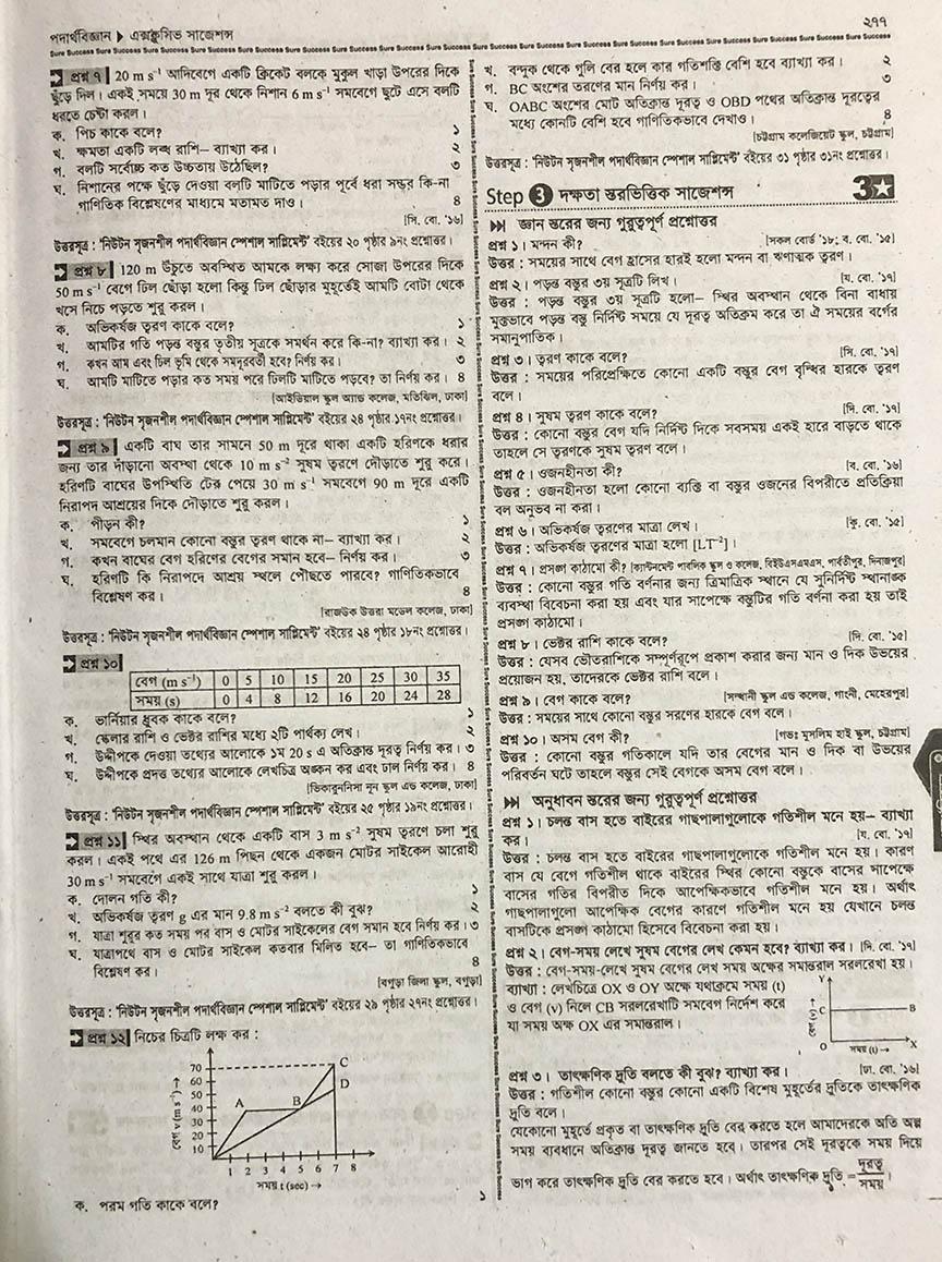 SSC Physics Suggestion