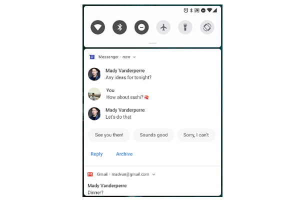 Google announces Android P Developer Preview 1 - Improved messaging notifications