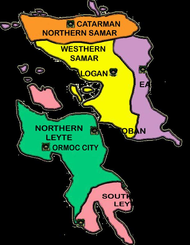 Map Of Region 8 Philippines Region 8 | B u B b L e p e d i a