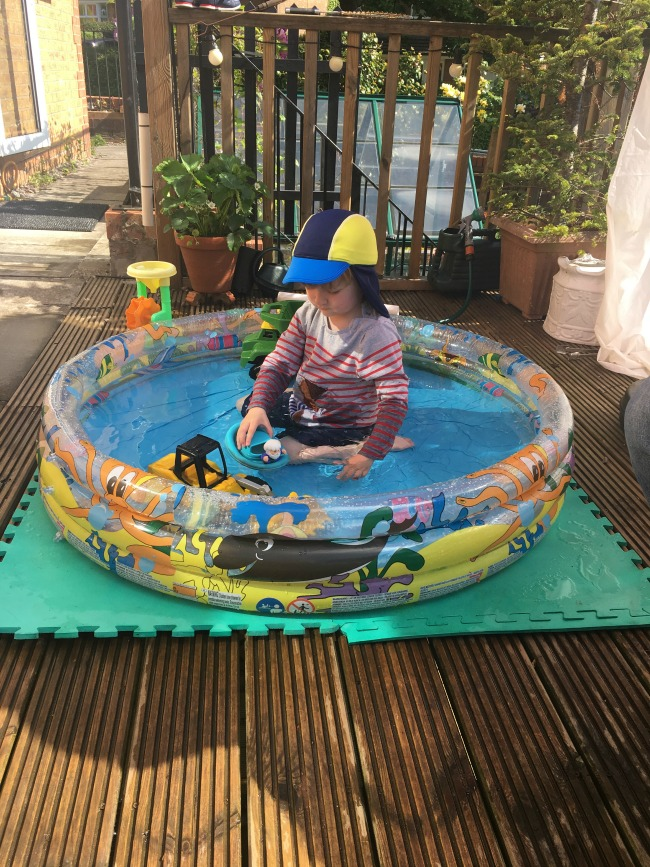 Our-weekly-journal-29th-may-2017-toddler-sat-in-paddling-pool