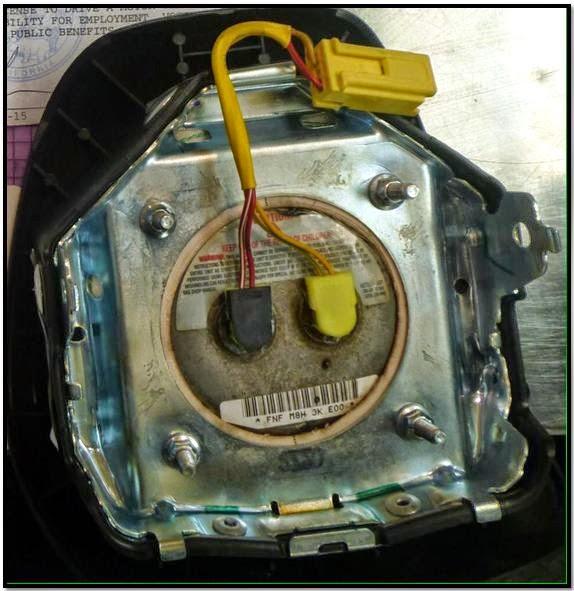 Airbag discovered at Sacramento (SMF).