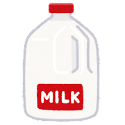 1ガロンの牛乳のイラスト