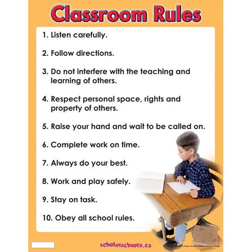 click on classroom organization rules