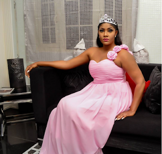 Nollywood Actress Angela Okorie on pink