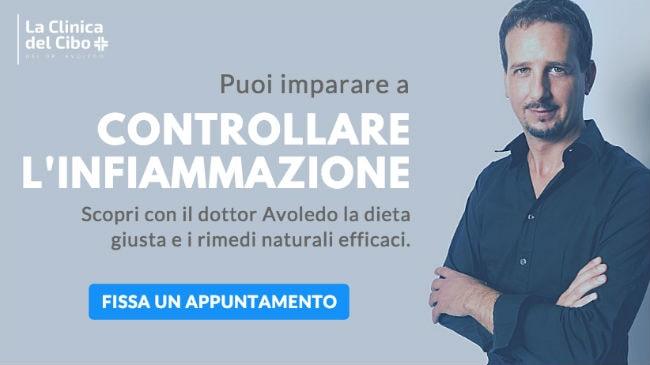 L'appuntamento alla Clinica del Cibo con il dottor Luca Avoledo per la dieta antinfiammatoria