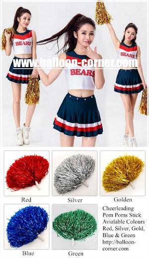 Cheerleading Pom Poms Stick / Tongkat Cheerleader Pom Pom