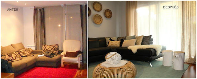 antes y después salón