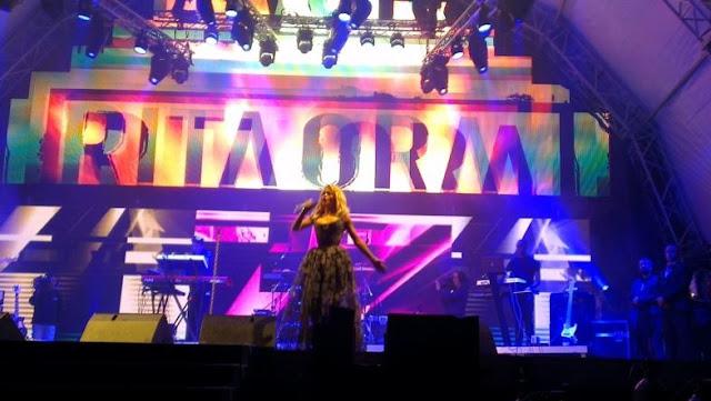 Rita Ora singing