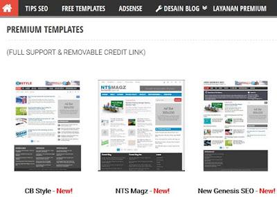 template blog bisnis