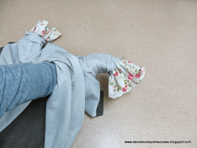 truco para forrar un vestido con mangas